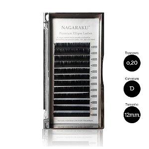 Cílios para Alongamento Nagaraku Ellipse Tesourinha 0.20 D 12mm