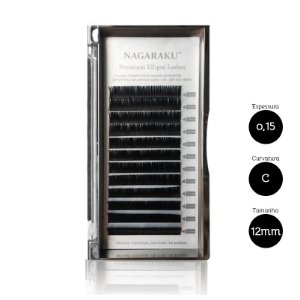 Cílios para Alongamento Nagaraku Ellipse Tesourinha 0.15 C 12mm