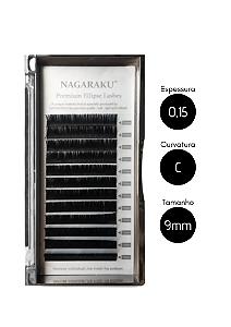 Cílios para Alongamento Nagaraku Ellipse Tesourinha 0.15 C 9mm