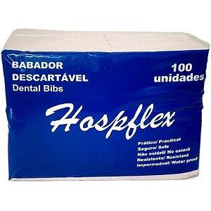 Babador Rosa Impermeável Descartável Hospflex