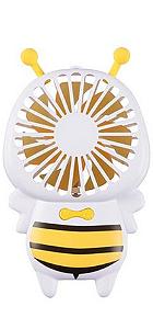Ventilador Recarregável Abelha Amarelo