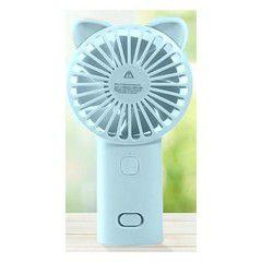 Ventilador Recarregável Gato Azul