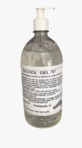 Álcool Gel 70% 1 Litro Crystal Clean