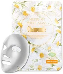 Máscara Facial Coreana Nohj Herbs Fit Sheet Mask Chamomile