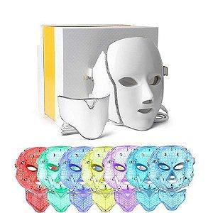 Máscara Led 7 Cores Facial e Pescoço Estética