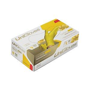 Luva Descartável Látex Yellow Sem Pó Unigloves M