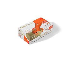 Luva Descartável Látex Orange Sem Pó Unigloves M