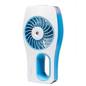 Ventilador e Umidificador Portátil Recarregável Azul