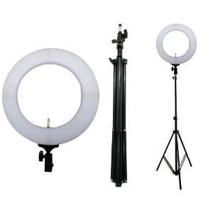 "Luminária Ring Light Pro 336 Leds 19"" MLG-49A"