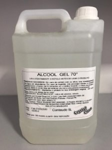 Álcool Gel 70% 5 Litros Crystal Clean