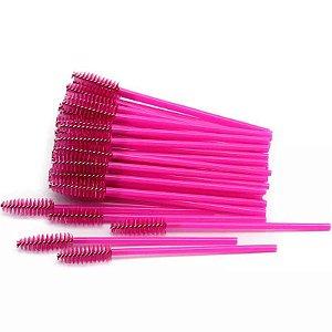 Escovinha para Cílios Descartável Pink 50 unid.