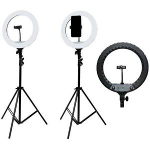 "Luminária Ring Light Pro 35cm 14"" YQ-360A"