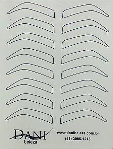 Pele Artificial Impressa Frente e Verso de Sobrancelhas Danibeleza