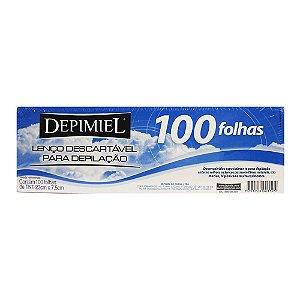 Lenço Descartável para Depilação Depimiel 100 Folhas