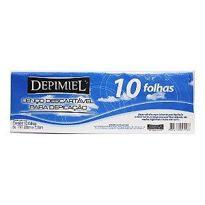 Lenço Descartável para Depilação Depimiel 10 Folhas