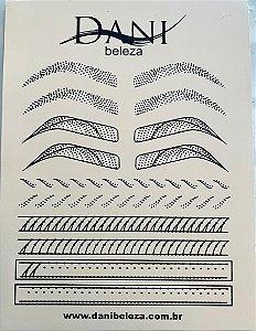 Pele Artificial Impressa Frente e Verso de Sobrancelhas 2 Danibeleza