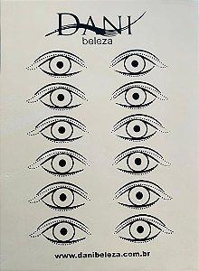 Pele Artificial Impressa Frente e Verso de Olhos Danibeleza