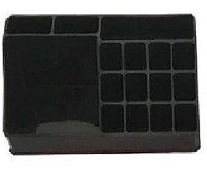 Organizador de Cosméticos Plástico Black 22x7,5x12,5cm