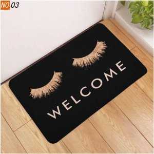 Tapete Cilios Welcome Black 40 x 60cm