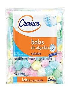 Bolas de Algodão Colorido 95g Cremer