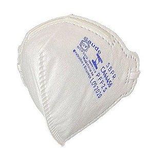Máscara Descartável PFF2 Branca Sem Válvula Airsafety Mask - CA 44456