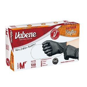 Luva Vinilflex Preta Vabene 100 unidades