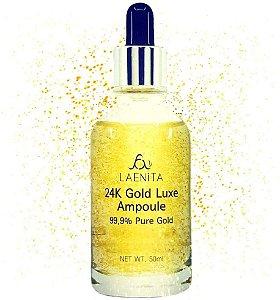 24k Gold Luxe Ampoule Ácido Hialurônico e Ouro Laenita 50ml