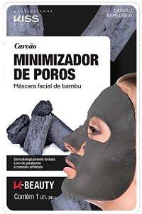 Máscara Facial de Bambu Carvão Minimizador de Poros Kiss NY 20ml