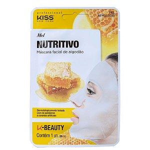 Máscara Facial de Algodão Mel Nutritivo Kiss NY 20ml
