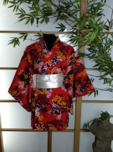 Kimono Curto Sakura Vermelho
