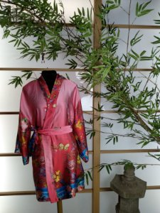 Kimono Robe Coleção Romântica Rosa