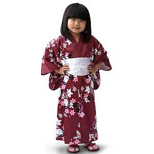 Kimono Infantil Hello Kitty  '18 Vinho