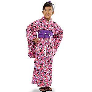 Kimono Infantil Kokeshi Goiaba