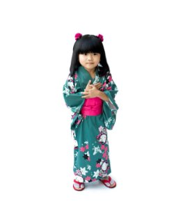 Kimono Infantil Verde Hello Kitty  '18