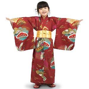 Kimono Infantil Marrom Hanabi