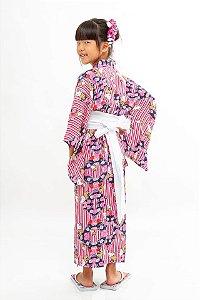 Kimono Listrado Hello Kitty '18