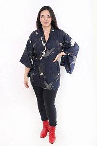 Kimono Azul Marinho c/ Tsuru