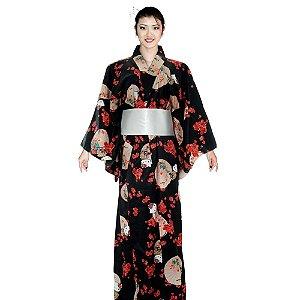 Kimono Preto Hello Kitty '18