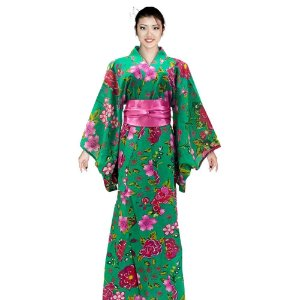 Kimono Longo Chita Verde