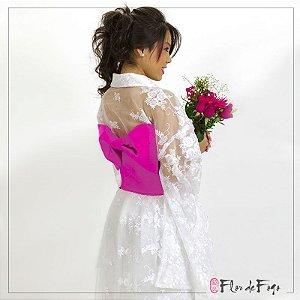 Kimono Branco com Renda (noiva)