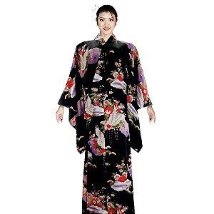 Kimono Preto Unmei
