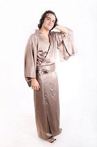 Kimono Bege Cintilante