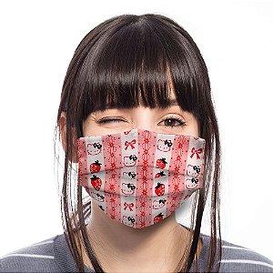 Máscara Hello Kitty Laços Moranguinhos