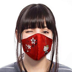 Máscara Hello Kitty Vermelha Bico de Pato