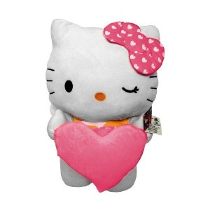 Hello Kitty - Pelúcia Gigante - Coração