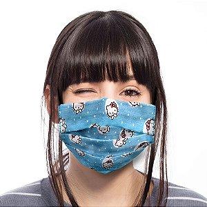 Máscara Hello Kitty Azul Adulto / Juvenil