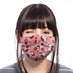 Máscara Hello Kitty Rosa Moranguinho Adulto / Juvenil