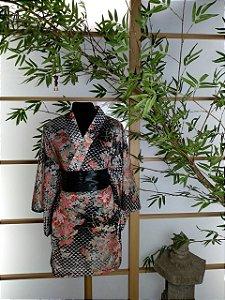 Kimono Curto Flor Imperial