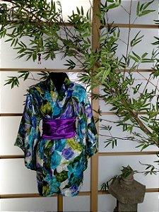 Kimono Curto Bara Azul