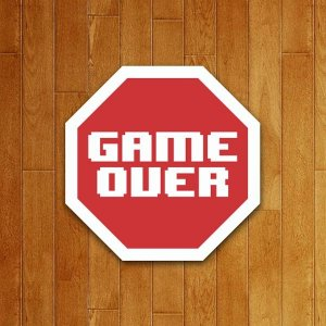 Placa Decorativa Game Over V2